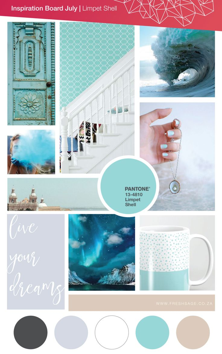 July Moodboard | Inspired by Pantone: Limpet Shell - @FreshSageSA