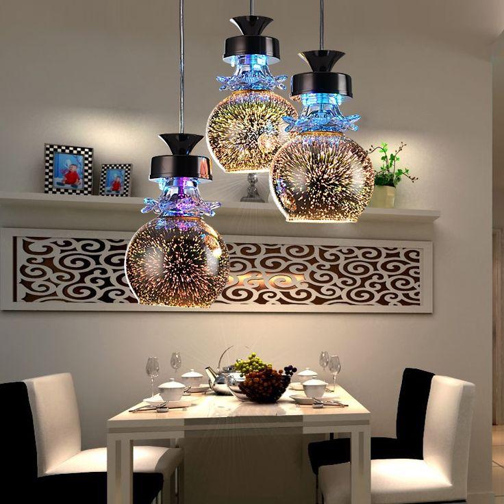 (222.65$)  Watch here  - Led e27 Dimmable Colorful 3D Effect Glass LED Lamp LED Light.Pendant Lights.Pendant Lamp.Pendant light For Dinning Room Foyer
