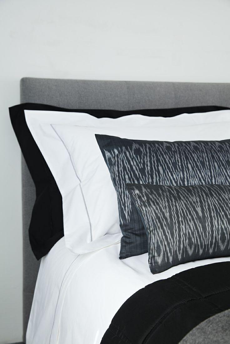 Zig-zag Ikat Cushions made from Cambodian silk.