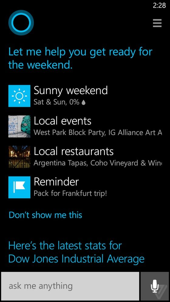 Cortana has a notebook, just like a real assistant... [Microsoft's AI Cortana…