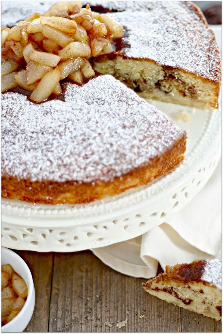 Birnenkuchen mit Nutella