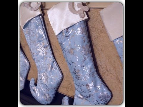 DIY: Sew a Christmas Stocking w/ Lining & Cuff, No Raw Seams - YouTube. Love this woman's way of helping us understand all the finicky parts of sewing this. :)