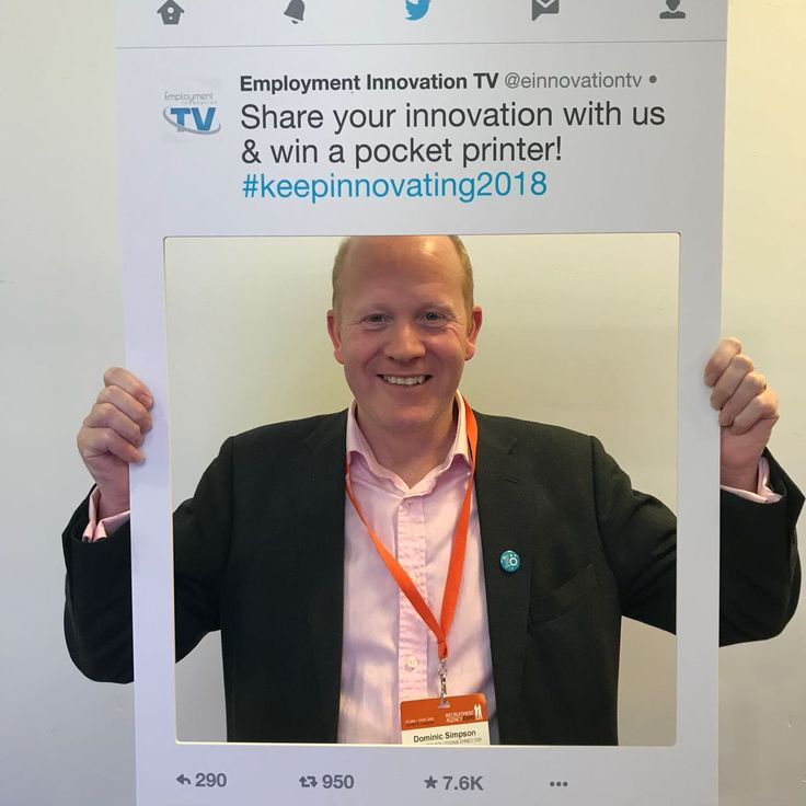 "Dominic Simpson says: ""Innovation means being nimble, responsive to the market and listening to your clients"". #Recexpo2018 #employmentinnovationtv #centralus #employee #employer #Recruiting #london #event #keepinnovating #Recexpo"