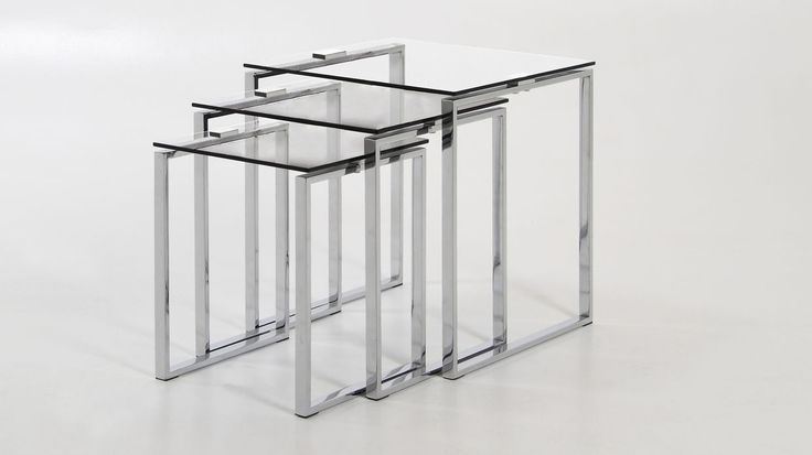 Solero Clear Glass Nest of Tables £139.00