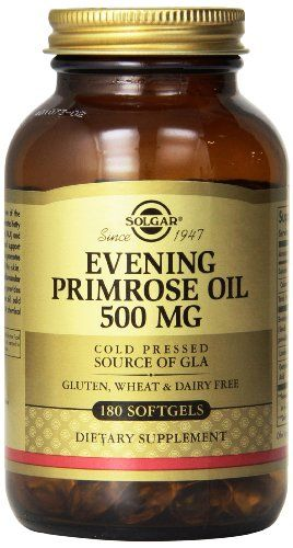 Solgar Evening Primrose Oil Supplement, 500 mg, 180 Count