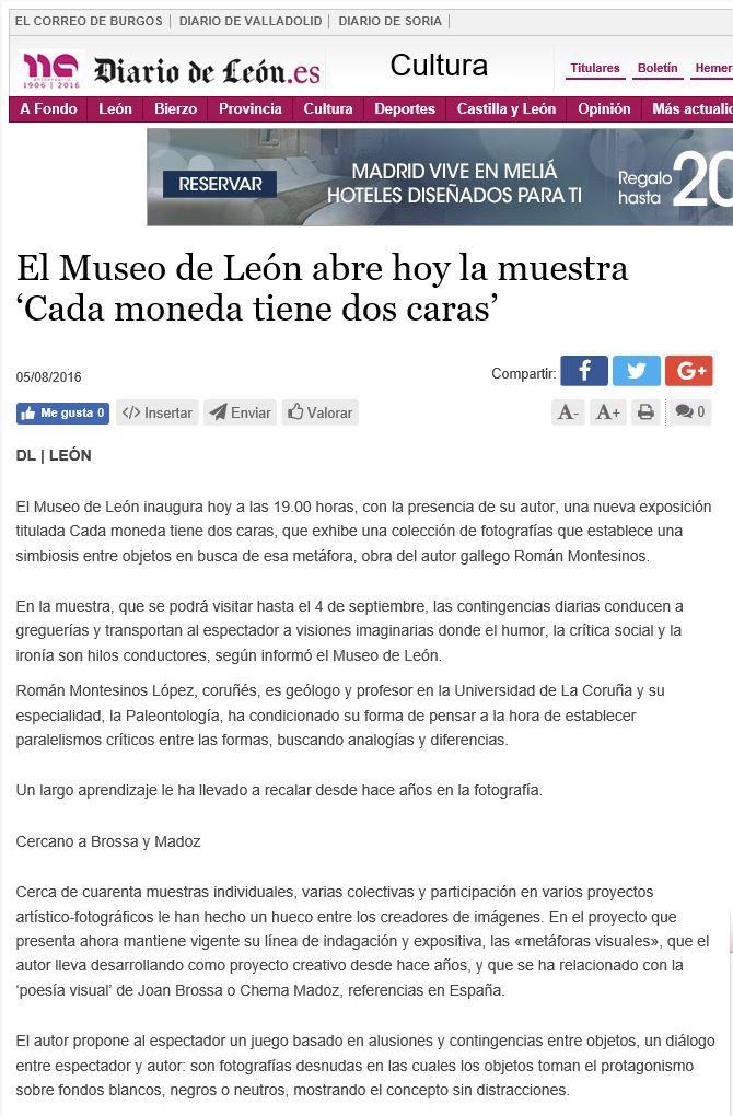 PRENSA: Diario de León - Exposición en el Museo de León.