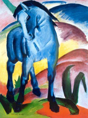 Blue Horse I Art Print at AllPosters.com