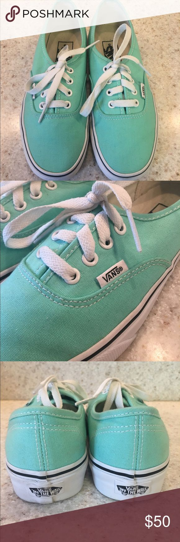 Vans Mint Green, Size 7, Good condition- worn once Shoes Sneakers