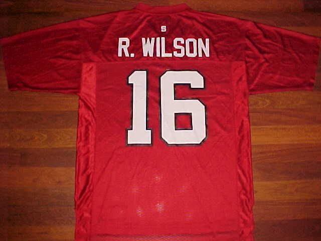 adidas NCAA N.C. State Wolfpack Russell Wilson #16 Red White Football Jersey L #adidas #NCStateWolfpack