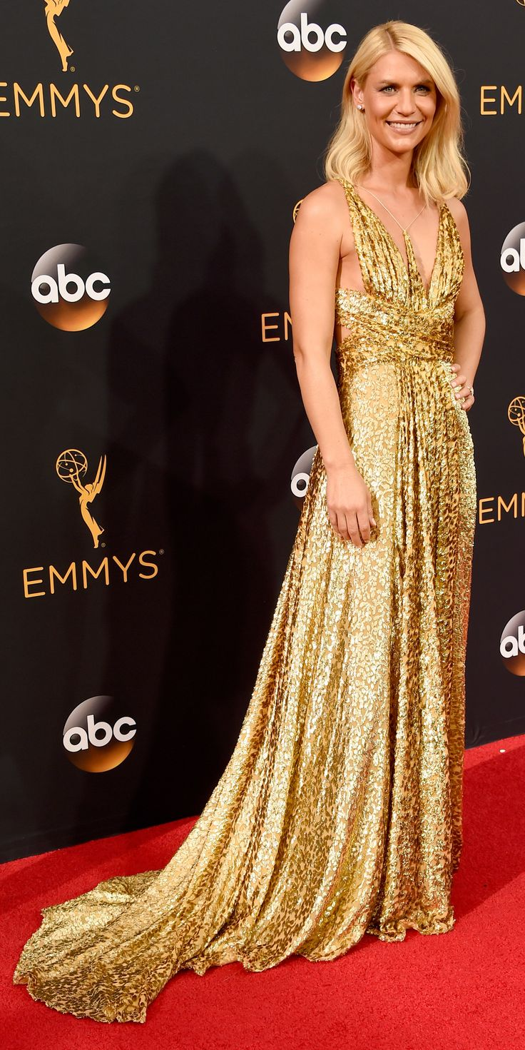 See the Hottest Looks from the 2016 Emmy Awards Red Carpet - Claire Danes from InStyle.com