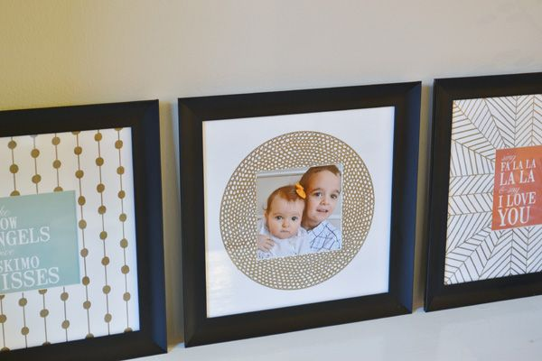 Sharpie embellished photo mats + a great deal on Sharpies at Staples