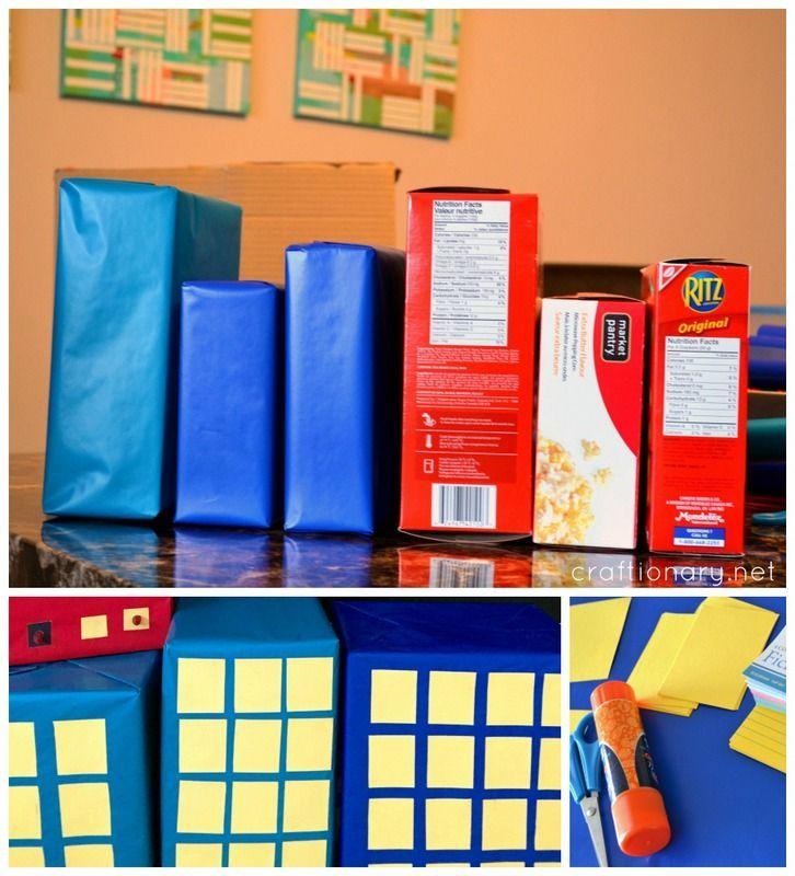 cardboard box buildings