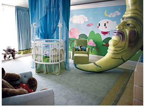 Christina Aguilera's Nursery...Could live without the Big scary moon though :)