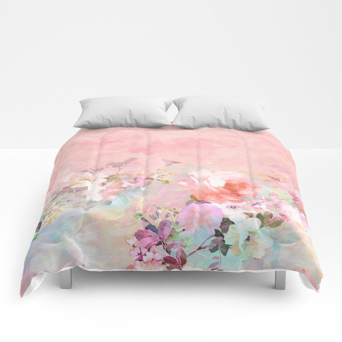 Our Lightweight Warm Comforters Induce Sweet Sweet Sleep And Take Your Bedding To The Next Le Pattern Comforters Blush Watercolor Watercolor Floral Pattern