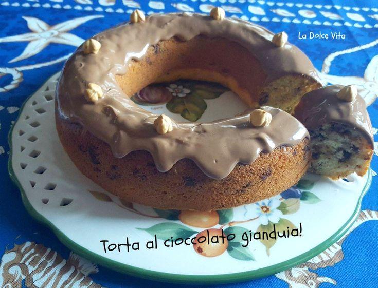 #Torta al #cioccolato #gianduia con #nocciole!