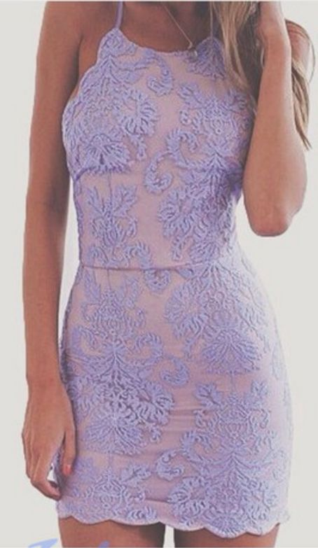 Lavender Homecoming Dress,Lace Home