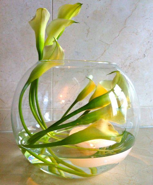 Mini calla lilies arrangement…