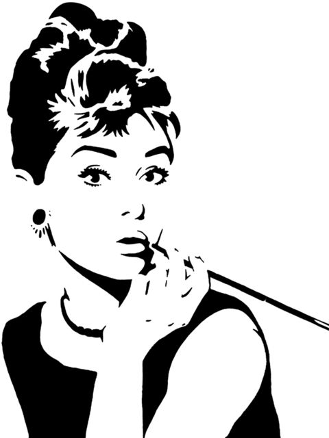Holly Golightly stencil template