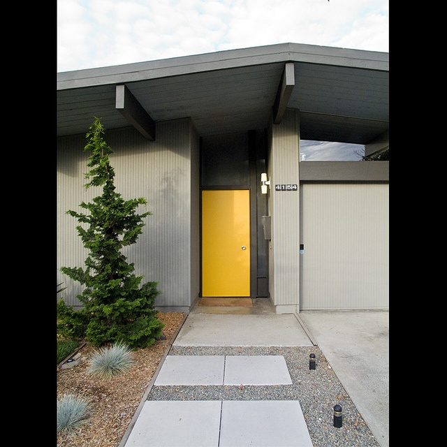 Yellow Door Plus Clean Contemporary Architecture
