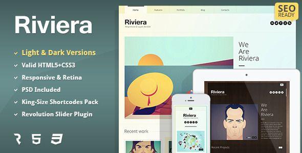 Riviera - Premium Portfolio HTML5 Template