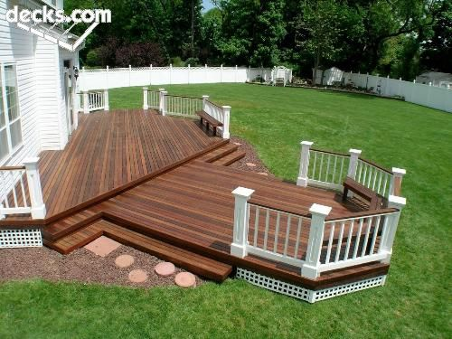 11 best images about deck patio for the river house on for Custom deck ideas