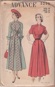 1940s afternoon dress with contrast lapels