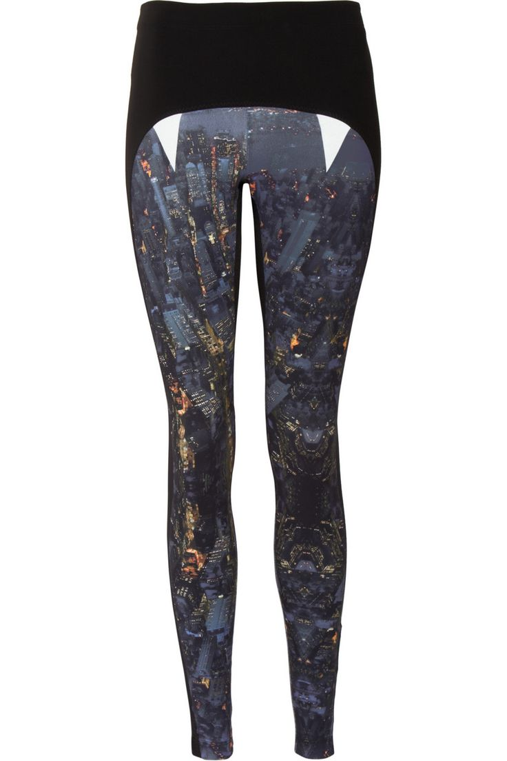 Lucas Hugh|Lexington Manhattan skyline printed stretch leggings|NET-A-PORTER.COM