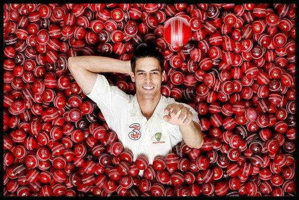 Australian cricketer and fast bowler Mitchell Johnson.