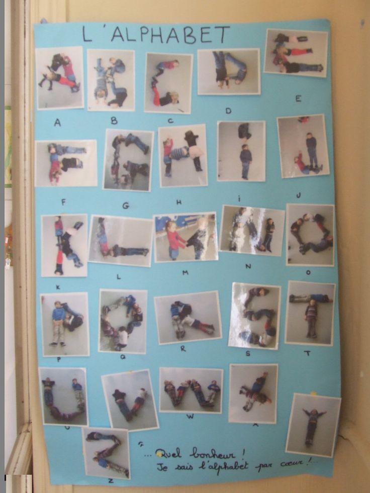 Alphabet avec le corps - LA CLASSE DE PEPE