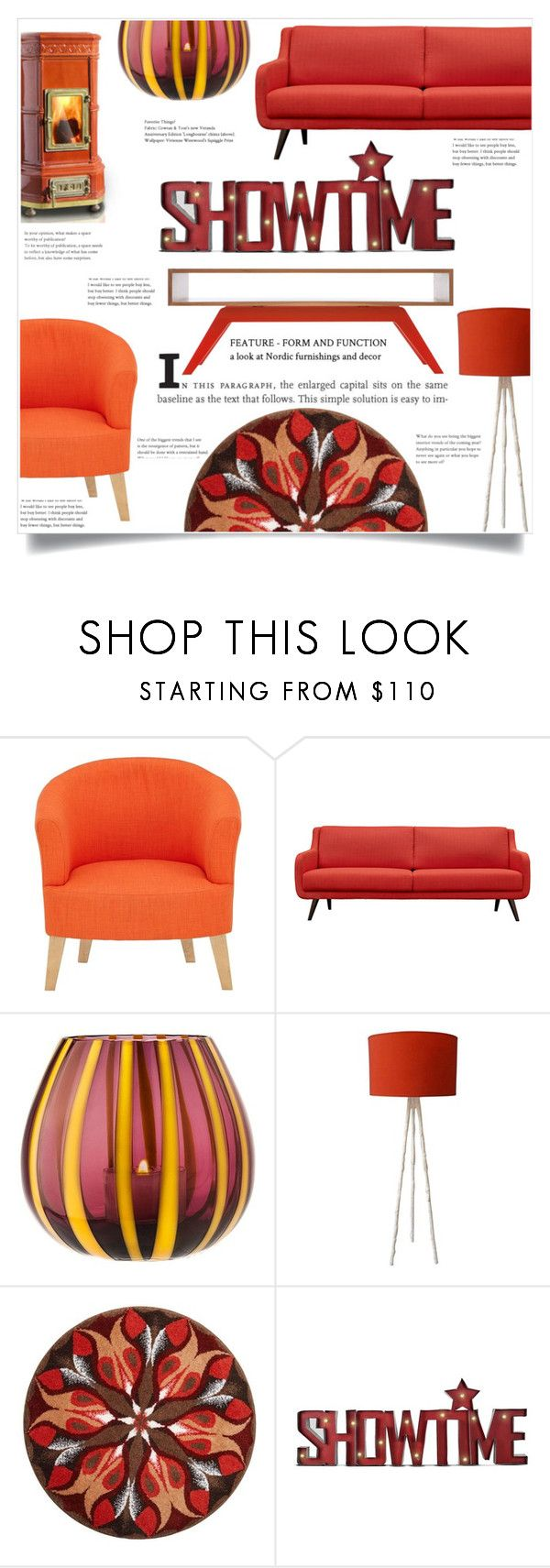 """Showtime in red"" by elisabetta-negro ❤ liked on Polyvore featuring interior, interiors, interior design, home, home decor, interior decorating, The Merchant Of Venice, Grund and Eastvold Furniture"