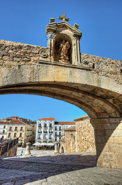Arch – Arco de la Estrella, Cáceres (Spain).STOP killing Dogs in Spain.Over 50.000 dogs every year are tortured to death in Spain. Dogs for hunting and Galgo races (Spanish Greyhounds). Hanged, thrown  alive into wells or/and burned alive.This is even - Not Illegal, in regions like Andalucia .#Spain