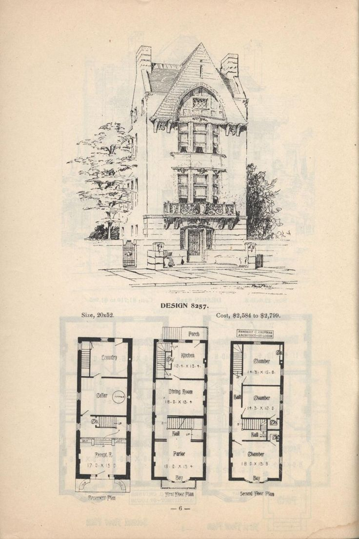 artistic city houses no 43 - Images House Plans 1890 S