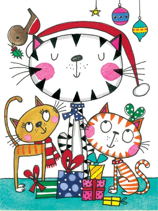 Rachel Ellen christmas card - cats