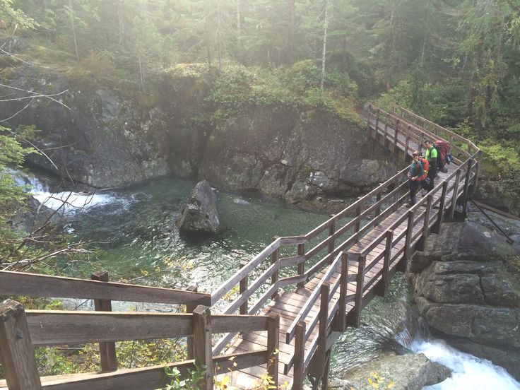 Grateful for these bridges along the trail. Hiking to Della Falls on Vancouver Island.