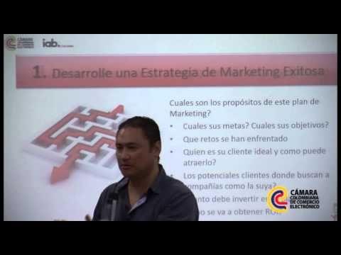 Charla para afiliados de la Cámara Colombiana de Comercio Electrónico acerca de Inbound Marketing aplicado a los negocios