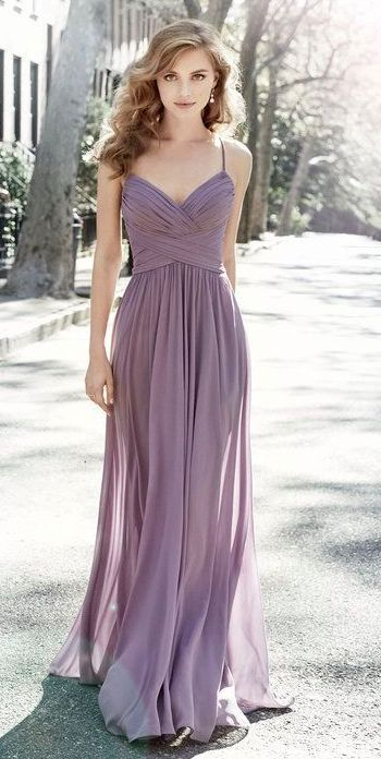 Featured Dress: Hayley Paige Occasions; Bridesmaid dress idea. | Lavender bridesmaid dress ideas