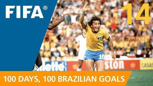 Taki jest Brazylijski styl strzelania goli • Piękny gol Brazylijczyka Zico podczas Mistrzostw Świata 1982 • Wejdź i zobacz film >> #zico #brazil #goals #football #soccer #sports #pilkanozna
