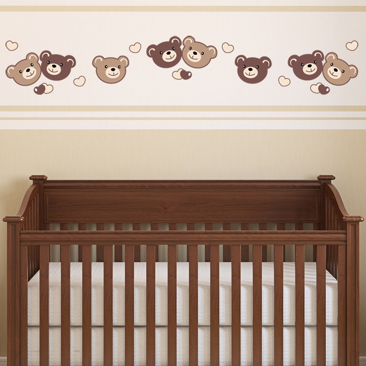 Lovely bears #wall #decal to give you decorating ideas for the nursery. #stickers
