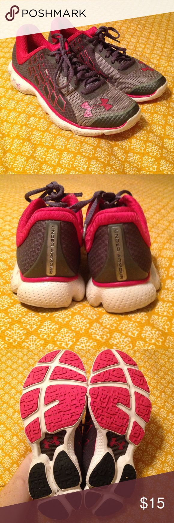 Under Armour Tennis Shoes. These are super comfortable. Worn, but not worn out. Cute colors. Light-weight for running. Under Armour Shoes Athletic Shoes