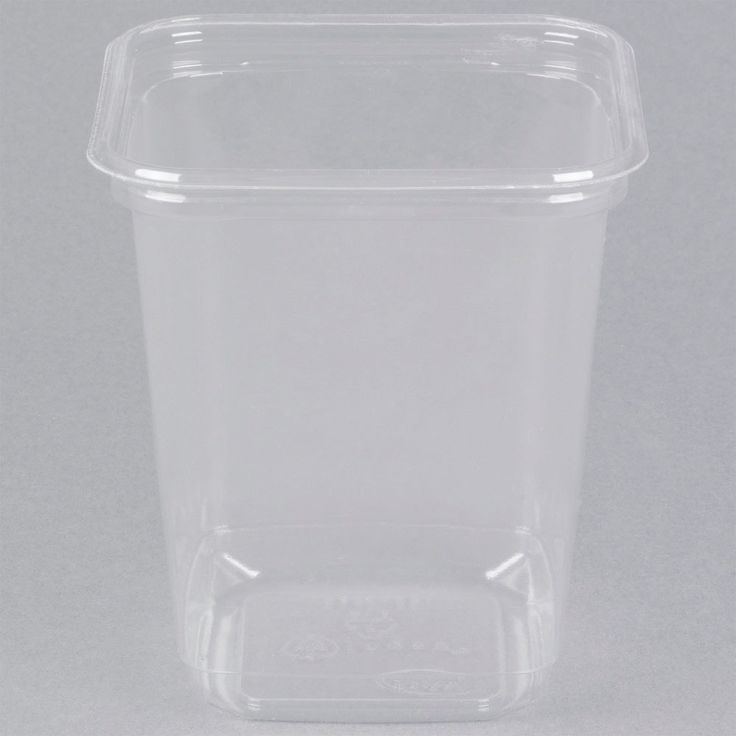 """Say """"no"""" to the traditional plastic deli container and """"yes"""" to this eco-friendly PLA plastic clear deli container! This D&W Fine Pack SD32N 32 oz. deli container is manufactured from PLA plastic, which is made from cornstarch instead of petroleum. This plastic is perfect for restaurants, kitchens, and grocery stores that want to cut back on waste and promote a more environmentally-friendly lifestyle.<br><br> This biodegradable deli container is a perfe..."""