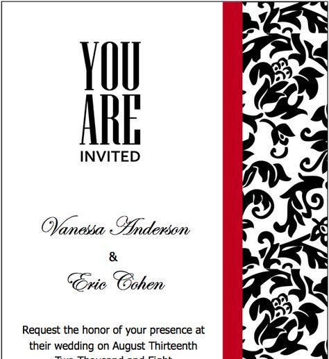 auto apaitei pragmatiki kordela nomizw pages black red wedding invitations template