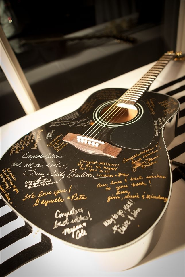 Guitar Guest Book | Style & Grace Events Austin