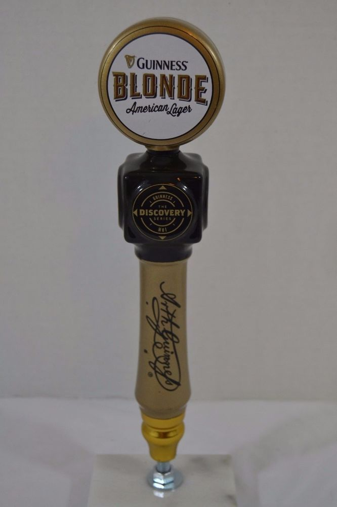 Guinness Blonde American Lager The Discovery Series Beer Tap Handle Ceramic