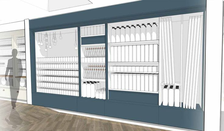 Our new laundry area with its smart touch of blue will feel bright, fresh and clean.  This is where you will find everything you need to keep your home sparkling and your clothes in tip top shape.  We will have a great range of essential clothes care, sophisticated ironing aids that make dreary chores easy and a variety of specialist floor care products.
