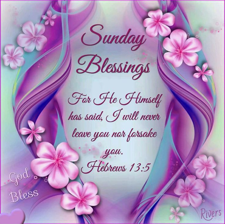 Sunday Blessings (Hebrews 13:5)
