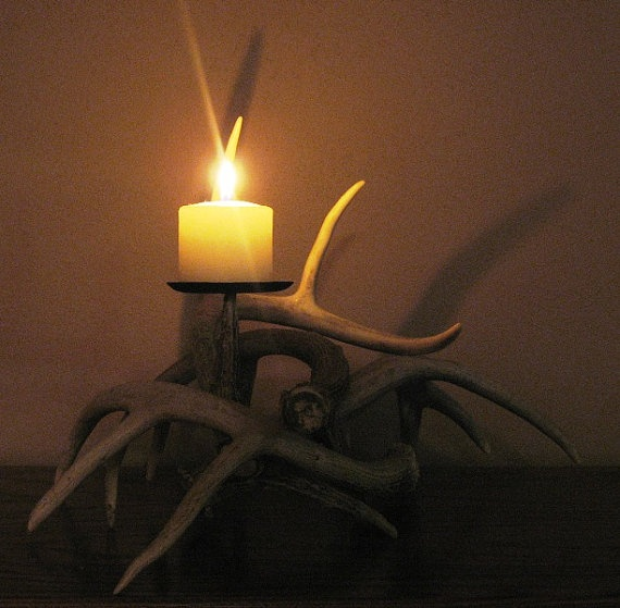 64 Best Images About Antler Candle Holders On Pinterest