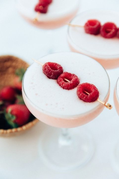 Strawberry Rasberry Summer Cocktail Recipe
