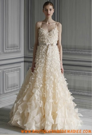 Robe de mariée organza avec ceinture  Robe de mariée  Pinterest