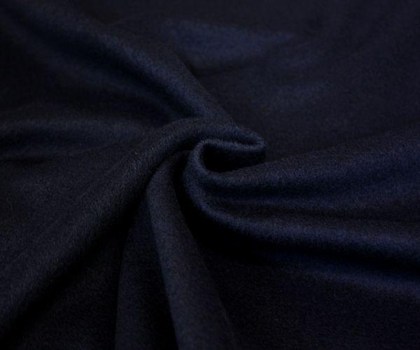 ワンランク上!日本製ウール/カシミヤ混紡毛メルトン ダークネイビー無地 コートやポンチョ膝掛けやショール ブランケットに♪W巾150cm 布 生地 布地 服地 通販 激安 防縮加工 カシミア ウール生地 10cm単位カット