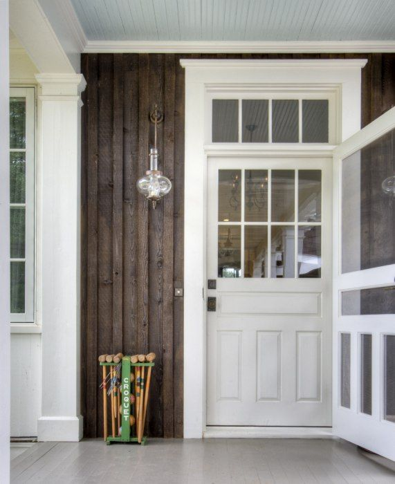Front door with old style screen door and transom love for Farm door ideas